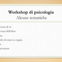 "Workshop ""PSICOLOGIA PER LA GENTE"""